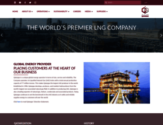 qatargas.com screenshot
