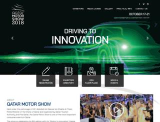 qatarmotorshow.gov.qa screenshot