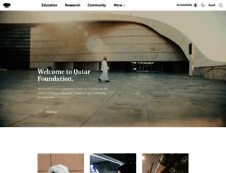 qf.edu.qa screenshot
