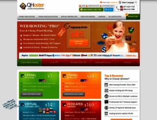 qhoster.eu screenshot