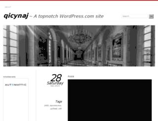 qicynaj.wordpress.com screenshot