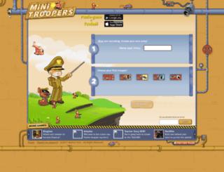 qinx.minitroopers.com screenshot