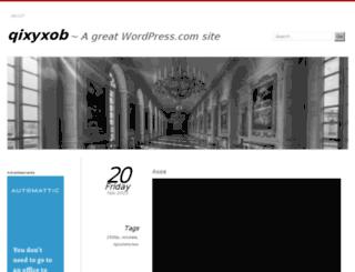 qixyxob.wordpress.com screenshot