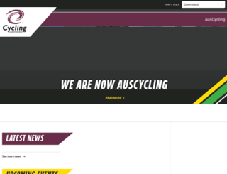 qld.cycling.org.au screenshot