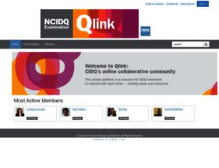 qlink.ncidqexam.org screenshot