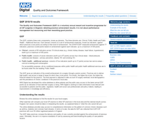 qof.hscic.gov.uk screenshot