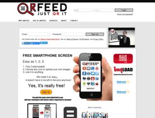 qrfeed.com screenshot