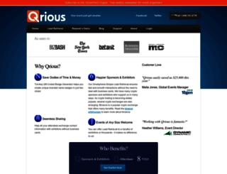 qriousapp.com screenshot