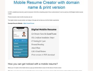 qrmobileresume.com screenshot