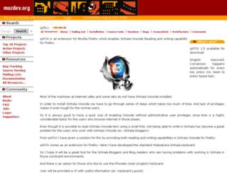 qsfox.mozdev.org screenshot