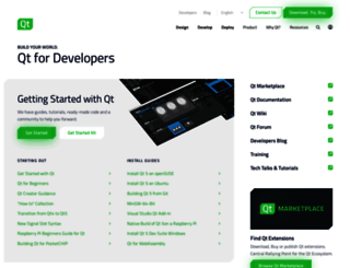qt-project.org screenshot