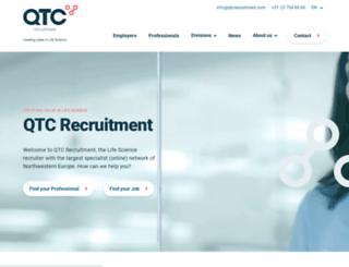 qtcrecruitment.com screenshot