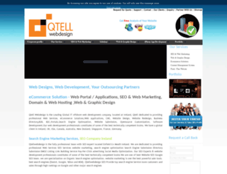 qtellwebdesign.ie screenshot