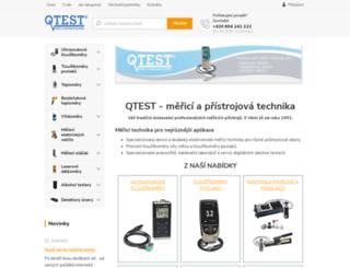 qtest.cz screenshot