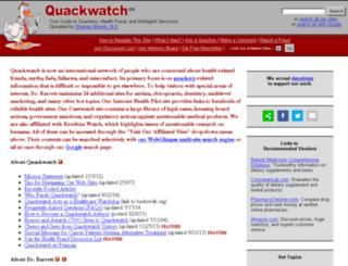 quackwatch.info screenshot