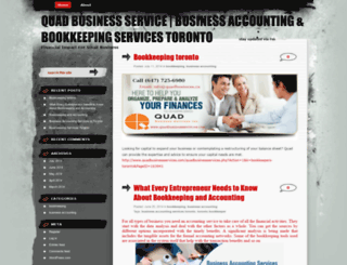 quadbusinessservice.wordpress.com screenshot