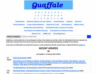 quaffale.org.uk screenshot
