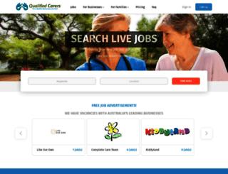 qualifiedcarers.com.au screenshot