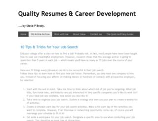 quality-resumes.com screenshot