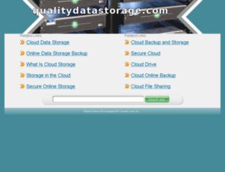 qualitydatastorage.com screenshot