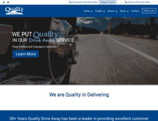 qualitydriveaway.com screenshot