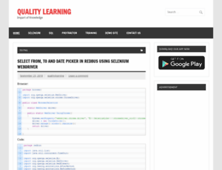 qualitylearning.in screenshot