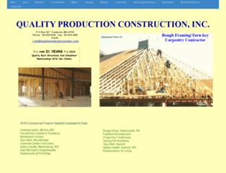 qualityproductionconstinc.com screenshot