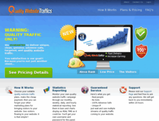 qualitywebsitetraffics.com screenshot