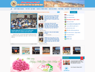 quangnam.edu.vn screenshot
