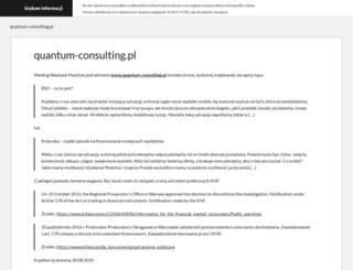 quantum-consulting.pl screenshot