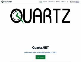 quartz-scheduler.net screenshot