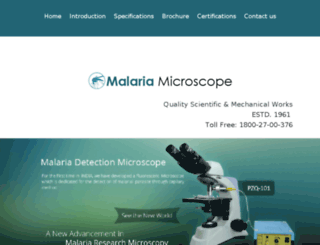 qubcmalariamicroscope.malariamicroscope.com screenshot