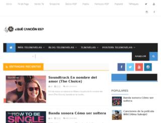 que-cancion-es.com screenshot
