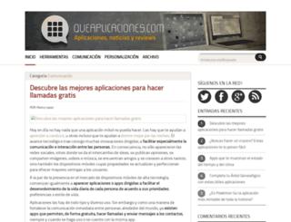 queaplicaciones.com screenshot