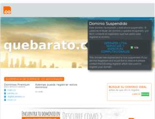 quebarato.com.co screenshot