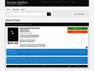 quebecauctions.hibid.com screenshot