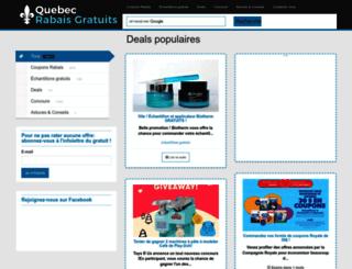 quebecrabaisgratuits.com screenshot