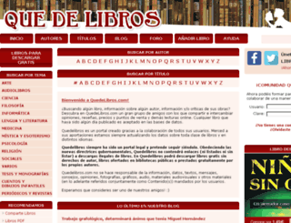 quedelibros.com screenshot