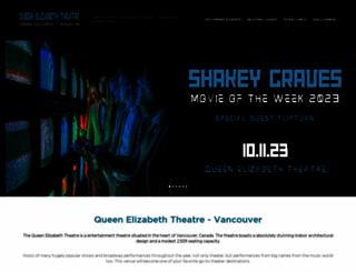 queenelizabeththeatre.org screenshot