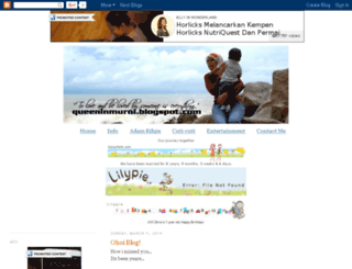 queeninmurni.blogspot.com screenshot