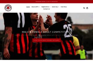 queensparkfc.com.au screenshot