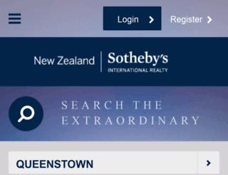 queenstown.nzsothebysrealty.com screenshot