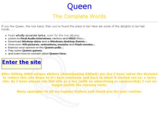queenwords.com screenshot