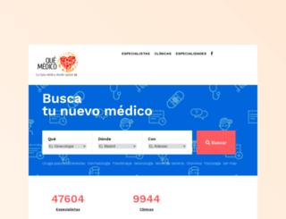 quemedico.com screenshot