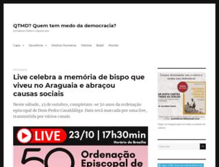 quemtemmedodademocracia.com screenshot
