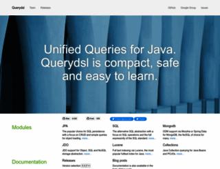 querydsl.com screenshot
