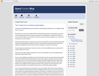 querytracker.blogspot.com screenshot