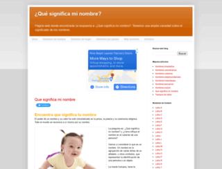 quesignificaminombre.info screenshot