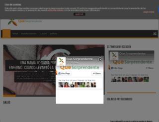quesorprendente.net screenshot
