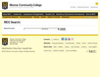 quest.monroecc.edu screenshot